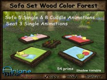 Sofa Set Wood Forest Color * Special Price Limited Time *
