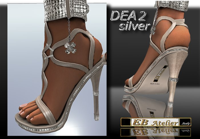 EB Atelier Shoes *DEA* Silver 2 -  italian designer