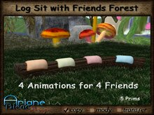 Log Sit with Friends Forest