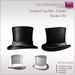 %50SUMMERSALE Full Perm Sculpted Top Hat - 2 styles  Builder's Kit Set FULL PERM
