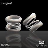 Night Owl Designs ~ Bangles! White