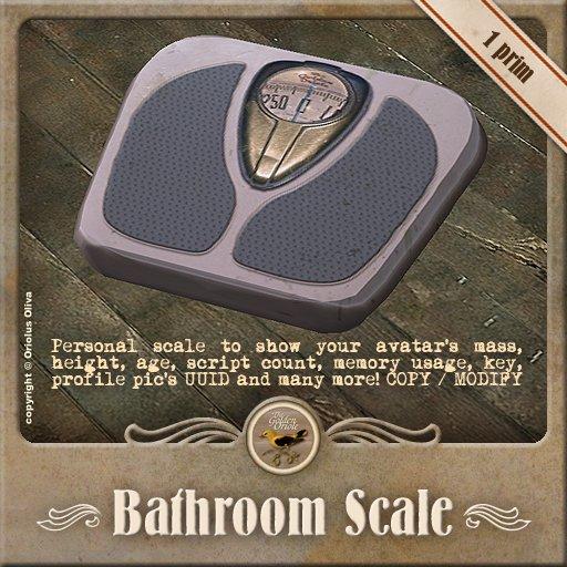[OO] Bathroom scale - Avatar info tool