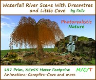 Waterfall River Scene Dream-Tree Cave ( for grotto landscaping garden )