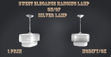 hanging silver lamp with 0n/off