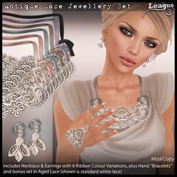 *League* Antique Lace Jewellery Set
