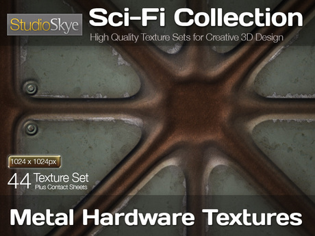 Studio Skye Sci-Fi Textures - 44 Metal Hardware Textures