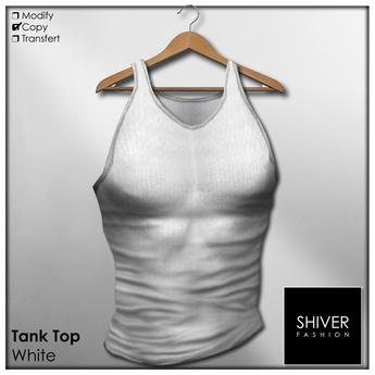 SHIVER  - Tank Top - White