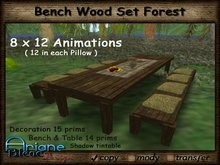 Bench & Table wood Forest --- Special --- Low Prim
