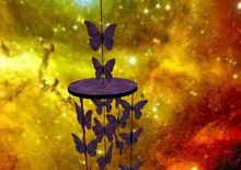 Deep Orchid(dark Purple) Butterfly Baby Mobile BOXED
