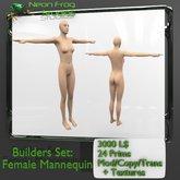 Sculpted Female Mannequin Builders Set