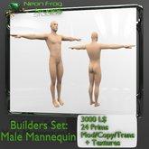 Sculpted Male Mannequin Set