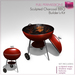 %50SUMMERSALE Full Perm Sculpted Charcoal BBQ - Barbecue Grill Builder's Kit Set