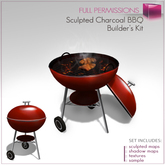 Sculpted Charcoal BBQ - Barbecue Grill Builder's Kit Set