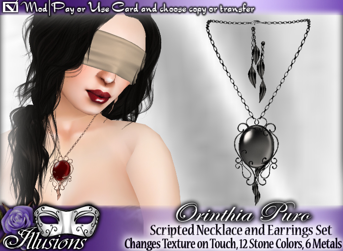 *~*Illusions*~* Orinthia Puro Necklace & Earrings Set