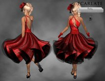 E - Dress Gown - Red / Robe de soiree formelle - Molly