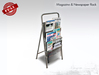 Newspaper and Magazine Rack Stand FULL PERM