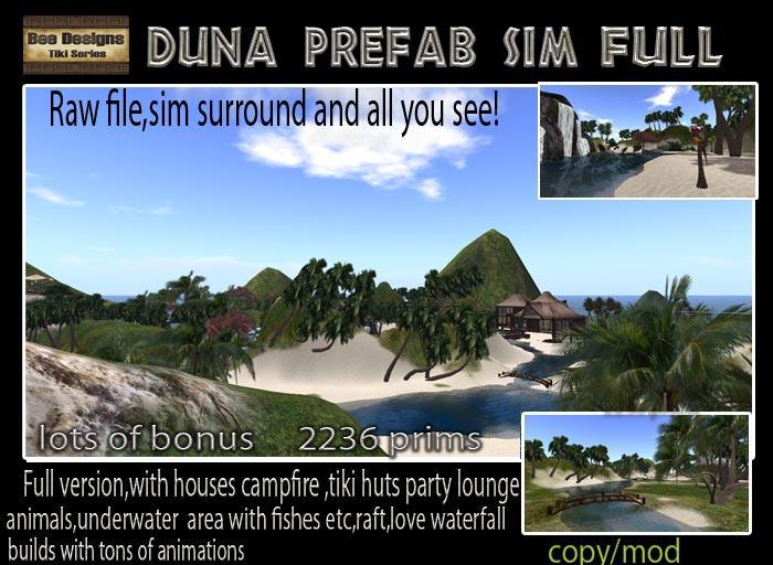 PROMO 30 K OFF! Duna Prefab Sim Full  version - A sim in a box-  tropical sim -