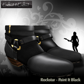 Men's Shoes - Engineer Boots - sculpt shoes - Cattivo - Rockstar Halfboots - Paint It Black