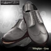 Men's Shoes,  dress shoes - sculpt shoes - Oxford Wingtips - Cattivo - Wingtips - Gray