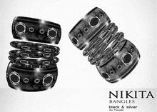 NIKITA :: BANGLES black and silver