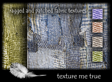 ragged and patched fabric texture pack