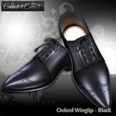 Cattivo Men's Sculpt Oxford Wingtip - Black