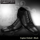 Cattivo Shoes and Boots Mens Captoe Oxford Shoe - Black