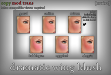 [croire] Dramatic Wing Blush (fatpack) (6 blush tattoo layers)
