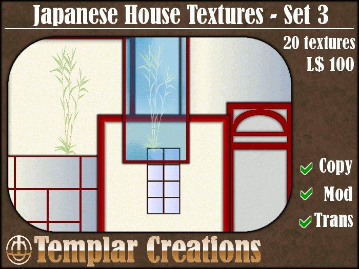 Japanese House Textures - Set 3