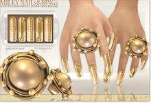 (70%OFF SALE)[MANDALA]MILKY WAY RINGs & NAILS/sun gold