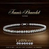 EarthStones Diamond Tennis Bracelet - Platinum (BOX)