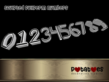 Potatoes Decoration - Sculpted Numbers Fullperm