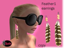 feather 1 earring