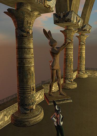 ~ Hare Couture ~ Egyptian Lotus-Petal Capital Column