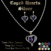 Ashira's Caged Hearts - Silver