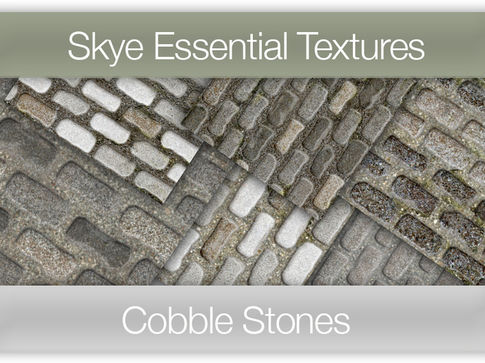 *Skye Essential Textures - 50 Cobble Stone -  Full Perms Road Textures