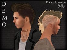 RAW HOUSE :: Flatliner hair DEMO w/ texture change highlights