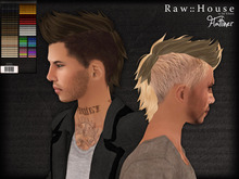 RAW HOUSE :: Flatliner hair [All Colors] w/ texture change highlights