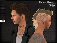 RAW HOUSE :: Flatliner Hair [Blacks] w/ texture change highlights