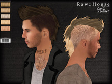 RAW HOUSE :: Flatliner Hair [Dark Blondes] w/ texture change highlights