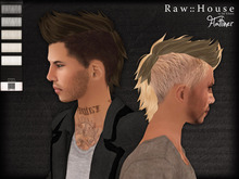 RAW HOUSE :: Flatliner Hair [Whites] w/ texture change highlights
