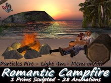 333 - Romantic Campfire - Sculpted - Animated (Only 1 Prim)
