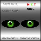 Gems Eyes - Green Gems