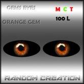 Gems Eyes - Orange Gems