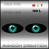 Gems Eyes - Cyan Gems