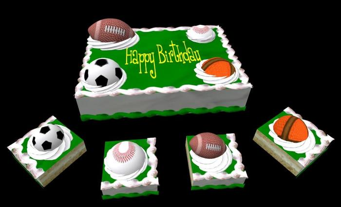 Peachy Second Life Marketplace Sports Birthday Cake Funny Birthday Cards Online Bapapcheapnameinfo