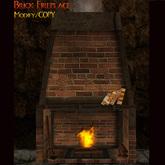 Brick Fireplace ~ Copyable  ~BOXED