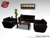 FULL PERM Furniture Choco Leather Seaters Set