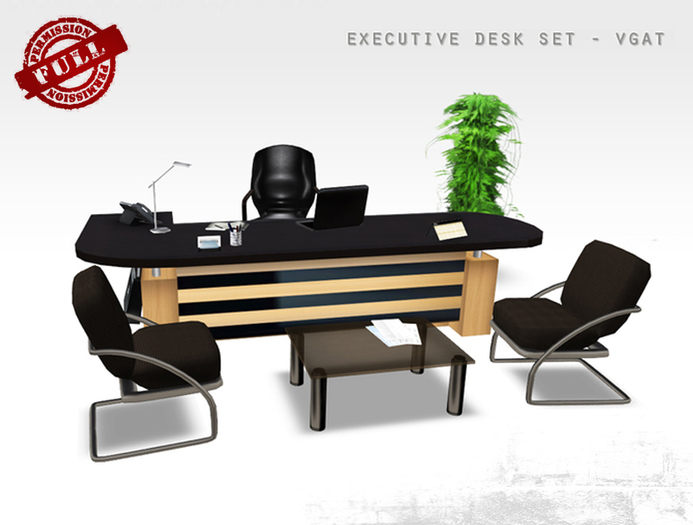 FULL PERM Office Furniture Desk Set VGAT