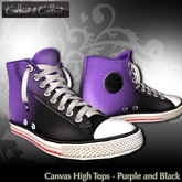 Cattiva Shoes  Canvas High Tops - Purple n Black Attack
